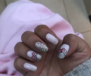 minnie, mouse, and nail image