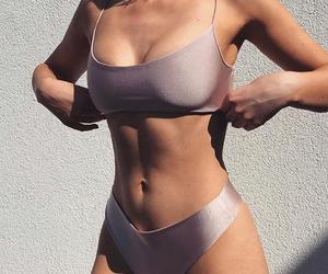 girl, bikini, and body image
