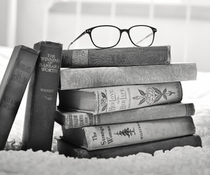 book and black and white image