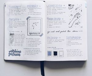 doodles, bujo, and bullet journal image