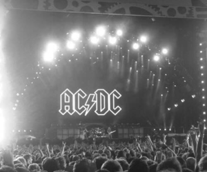 ACDC, ac dc, and black and white image