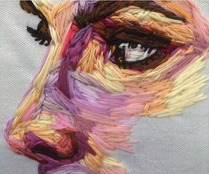 art, face, and colors image
