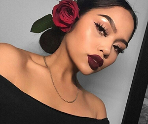 makeup, beauty, and rose image