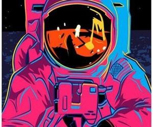 astronaut and pop art image