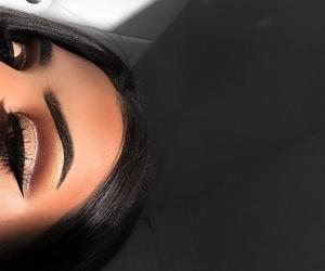 eye makeup, eyeshadow, and girl image