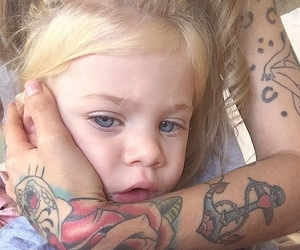 adorable, blonde, and tattoo image