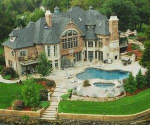 dream house, cool, and mansion image