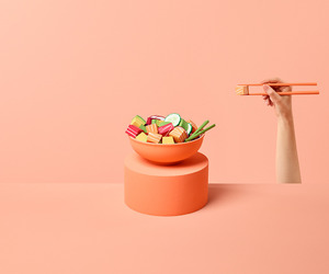 aesthetic, peach, and peachy image
