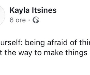 afraid, girl, and quote image