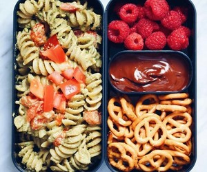 bento box, healthy, and lunch image