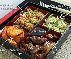 bento box, breakfast, and dinner image