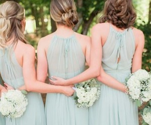 bridesmaids, wedding, and wedding photo image