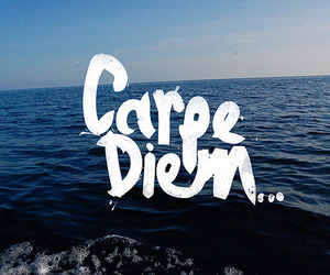 carpe diem, sea, and ocean image