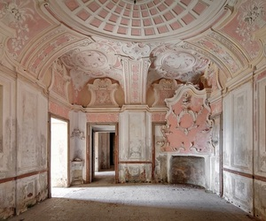 abandoned, interior, and pink image