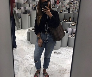 sunglasses, fashion style, and louis vuitton lv image