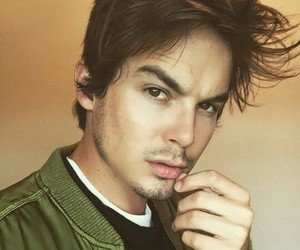 tyler blackburn, pll, and caleb image