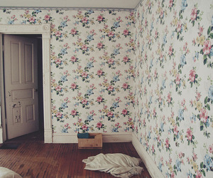 room, vintage, and flowers image