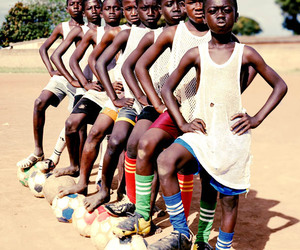 africa, boys, and football image