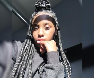braids, light, and sun image