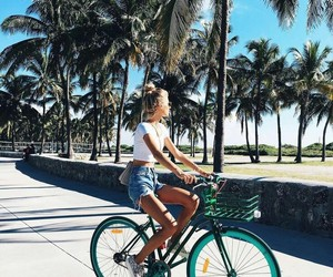 summer, beach, and bike image