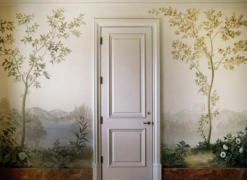 door, art, and flowers image