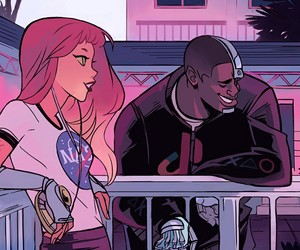 cyborg, starfire, and teen titans image