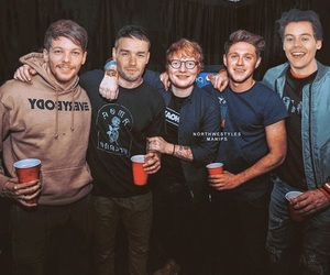 ed, niall, and Harry Styles image