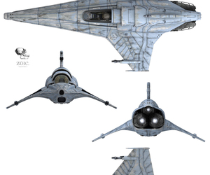 battlestar galactica, viper, and star wars image