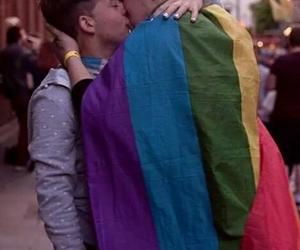 gay, lgbt, and kiss image