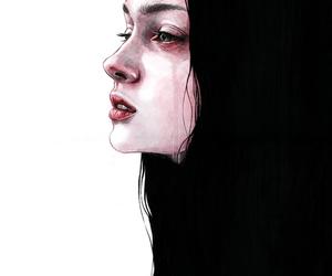art, sad, and draw image