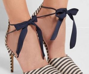 heels, ribbon, and shoes image