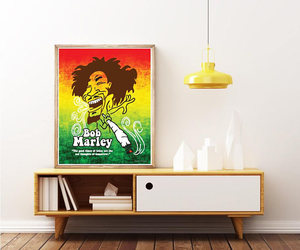 bob marley, graphic design, and music poster image