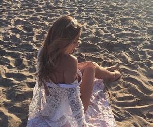 beach, beach girl, and blonde image