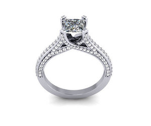 promise ring, cz, and platinum ring image