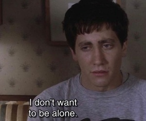 alone, quotes, and donnie darko image