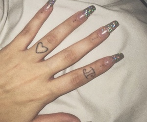 grunge, nails, and tattoo image