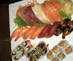 food, sushi, and rolls image