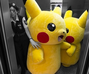 elevator, pikachu, and color popping image