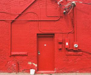 building, door, and red image