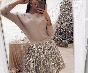 christmas, dress, and elegance image