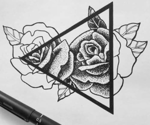 art, roses, and Tattoos image