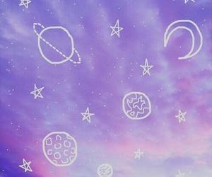 purple, stars, and aesthetic image