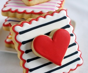 heart, Cookies, and sweet image