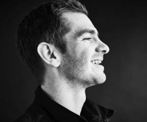actor, black & white, and andrew garfield image