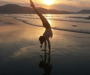 gymnastic, sunset, and yoga image