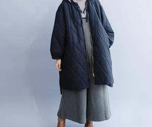black coat, outerwear, and winter coat image
