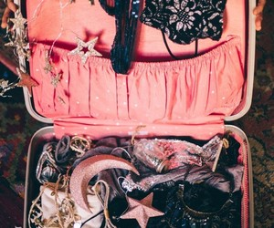 aesthetic, lace, and bagage image