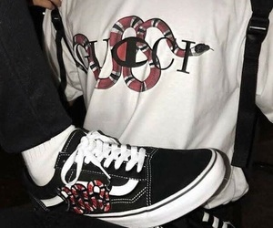 vans, gucci, and aesthetic image