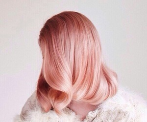 girl, hair, and rose gold image