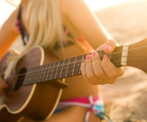 beach, music, and friends image